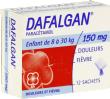 Dafalgan 150 mg, poudre effervescente pour solution buvable en sachet